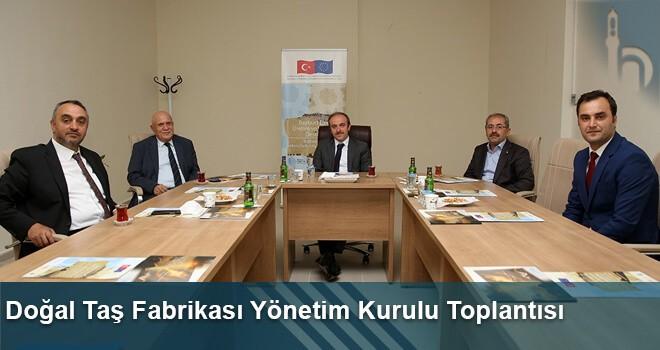 Doğal Taş Fabrikası Yönetim Kurulu Toplantısı Gerçekleştirildi