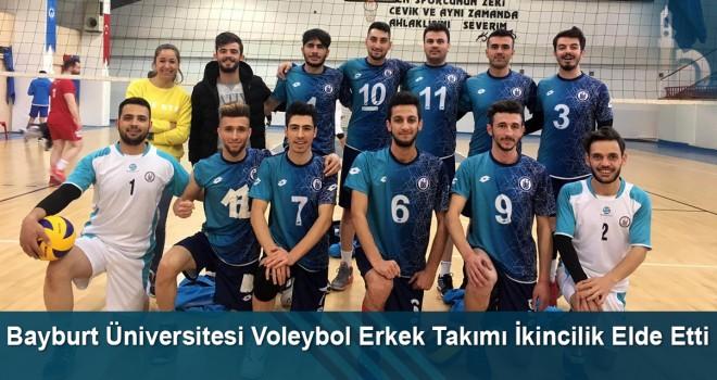 Bayburt Üniversitesi voleybol erkek takımı ikincilik elde etti