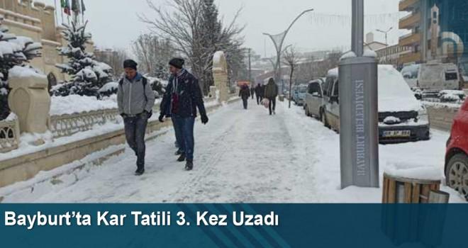 Bayburt'ta Kar Tatili 3. Kez Uzadı