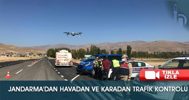 Jandarma'dan Havadan ve Karadan Trafik Kontrolü