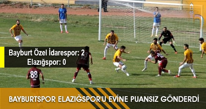 Bayburtspor Elazığspor'u Evine Puansız Gönderdi