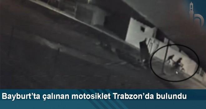 Bayburt'ta Çalınan Motosiklet Trabzon'da Bulundu