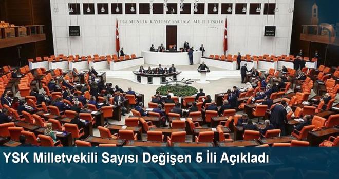 YSK Milletvekili Sayısı Değişen 5 İli Açıkladı