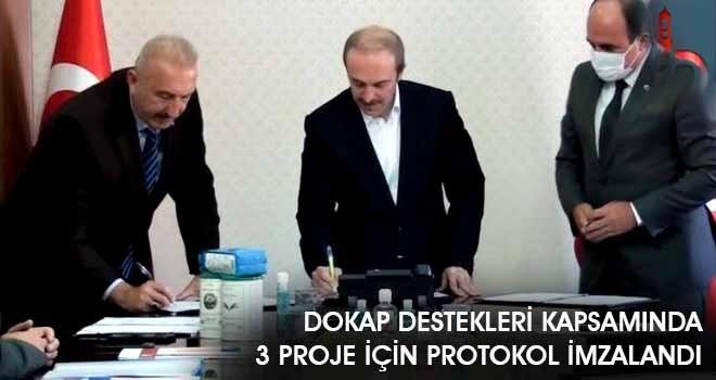 DOKAP Destekleri Kapsamında 3 Proje İçin Protokol İmzalandı