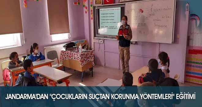 """Jandarma'dan """"Çocukların Suçtan Korunma Yöntemleri"""" Eğitimi"""