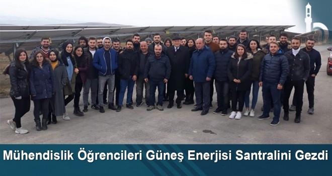 Mühendislik Öğrencileri Güneş Enerjisi Santralini Gezdi