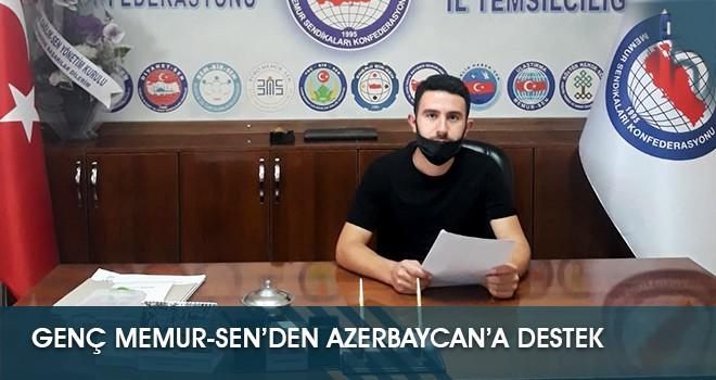 Genç Memur-Sen'den Azerbaycan'a Destek