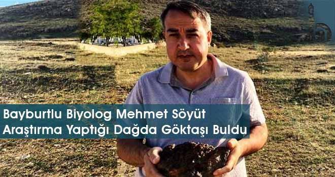 Bayburtlu Biyolog Mehmet Söyüt Araştırma Yaptığı Dağda Göktaşı Buldu