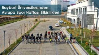 Bayburt Üniversitesinden Avrupa Spor Haftası Etkinlikleri