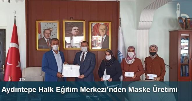 Aydıntepe Halk Eğitim Merkezi'nden Maske Üretimi