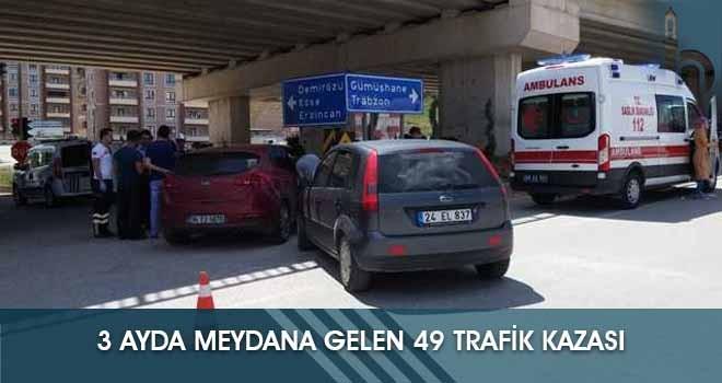 3 Ayda Meydana Gelen 49 Trafik Kazası