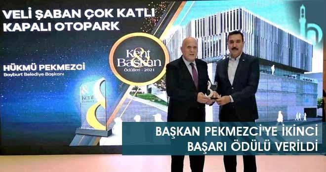 Başkan Pekmezci'ye İkinci Başarı Ödülü Verildi