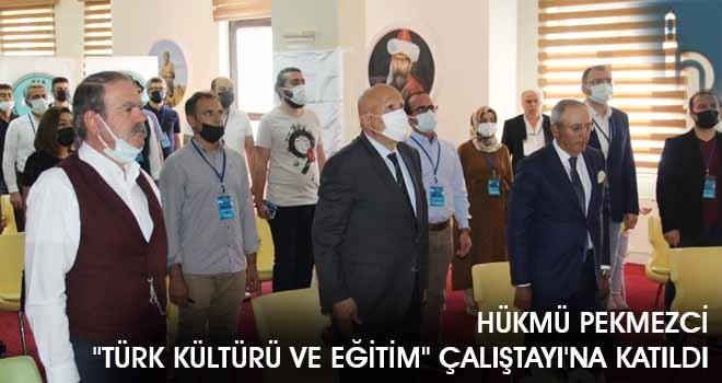 """Hükmü Pekmezci """"Türk Kültürü ve Eğitim"""" Çalıştayı'na Katıldı"""