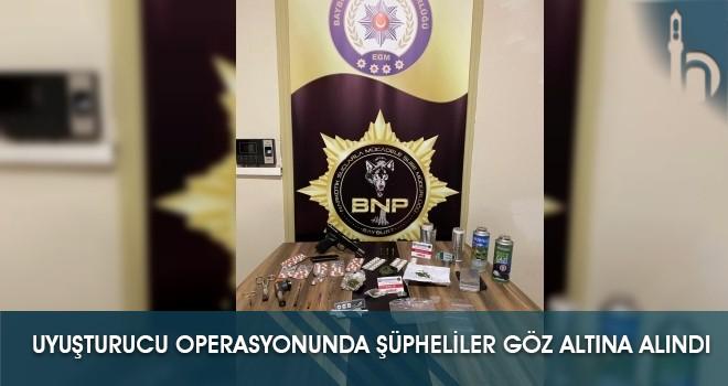 Uyuşturucu Operasyonunda Şüpheliler Göz Altına Alındı