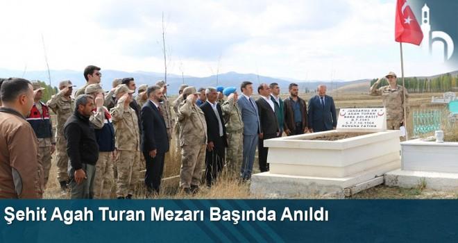 Şehit Agah Turan Şehadetinin Yıldönümünde Mezarı Başında Anıldı