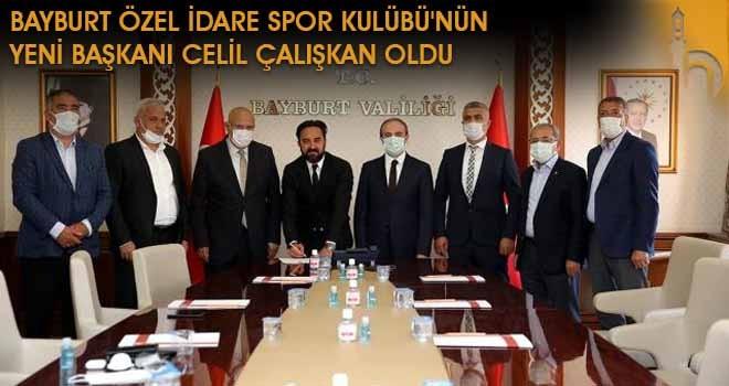 Bayburt Özel İdare Spor Kulübü'nün Yeni Başkanı Celil Çalışkan Oldu