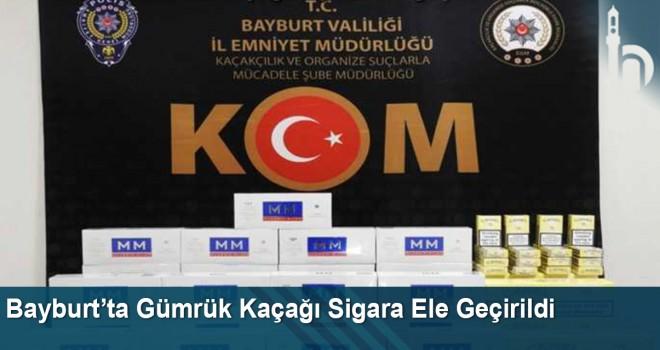 Bayburt'ta Gümrük Kaçağı Sigara Ele Geçirildi