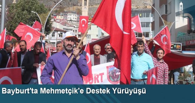 Bayburt'ta Mehmetçik'e destek yürüyüşü