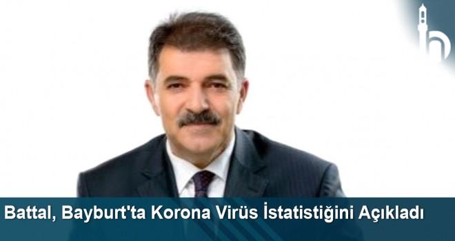 Battal, Bayburt'ta Korona Virüs İstatistiğini Açıkladı