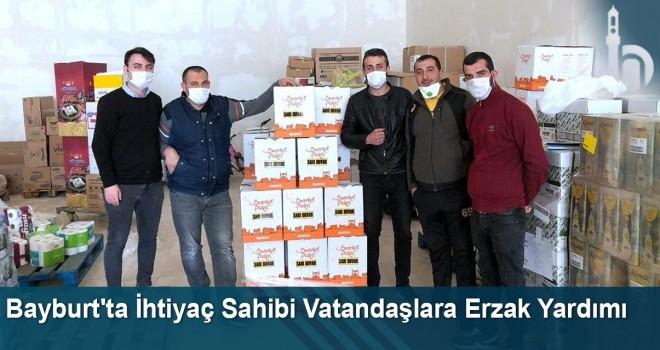Bayburt'ta İhtiyaç Sahibi Vatandaşlara Erzak Yardımı