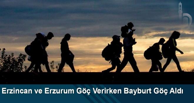 Erzincan ve Erzurum Göç Verirken Bayburt Göç Aldı