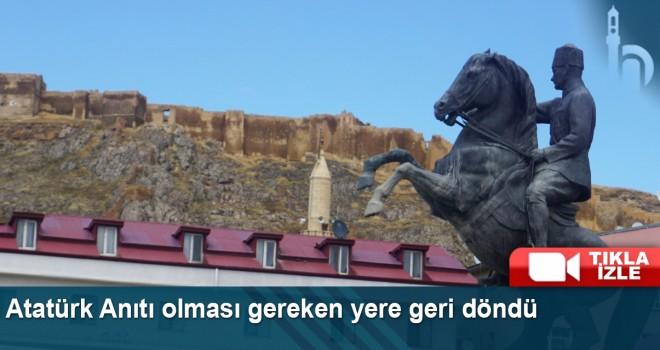 Atatürk Anıtı Olması Gereken Yere Geri Döndü