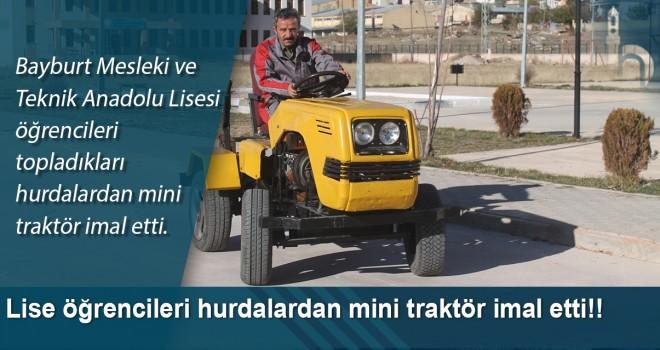 Lise öğrencileri hurdalardan mini traktör imal etti!!