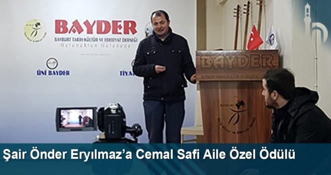 Şair Önder Eryılmaz'a Cemal Safi Aile Özel Ödülü