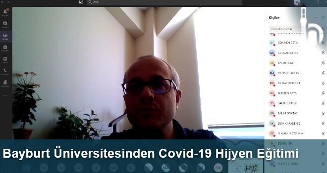 Bayburt Üniversitesinden Covid-19 Hijyen Eğitimi