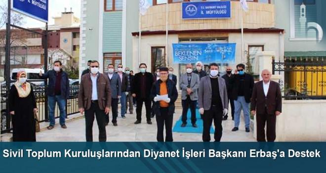 Sivil Toplum Kuruluşlarından Diyanet İşleri Başkanı Erbaş'a Destek