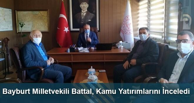 Bayburt Milletvekili Battal, Kamu Yatırımlarını İnceledi