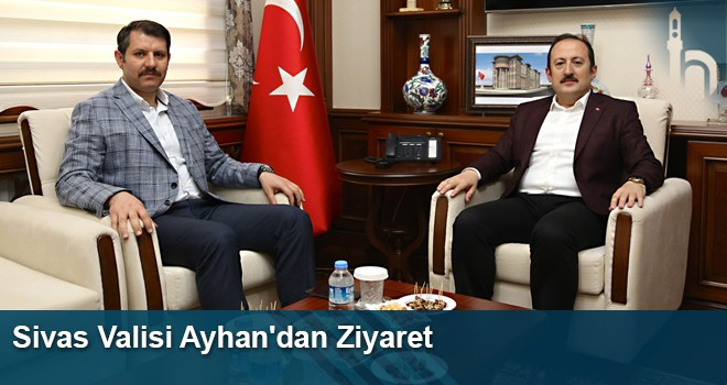 Sivas Valisi Ayhan'dan Bayburt Valisi Pehlivan'a Ziyaret