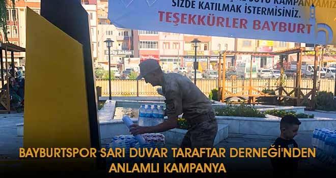 Bayburtspor Sarı Duvar Taraftar Derneği'nden Anlamlı Kampanya
