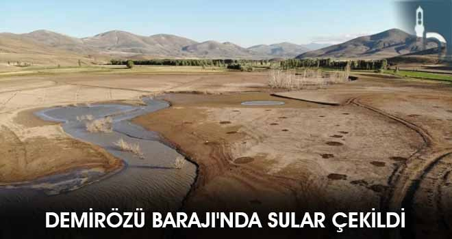 Demirözü Barajı'nda Sular Çekildi