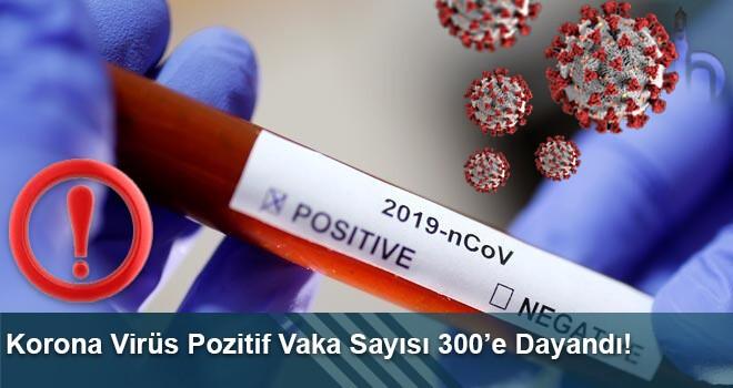 Korona Virüs Pozitif Vaka Sayısı 300'e Dayandı!
