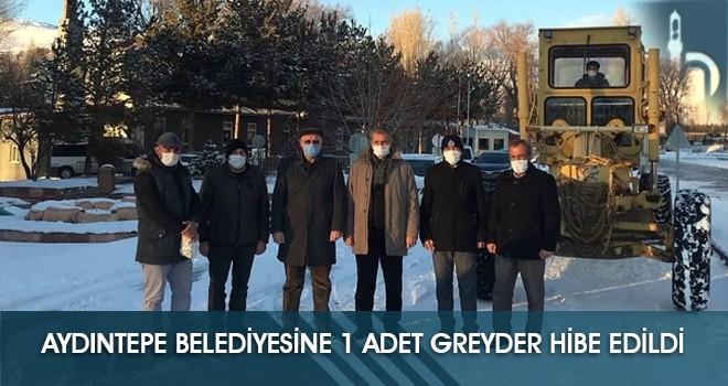 Aydıntepe Belediyesine 1 Adet Greyder Hibe Edildi