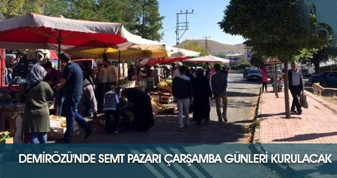 Demirözü'nde Semt Pazarı Çarşamba Günleri Kurulacak