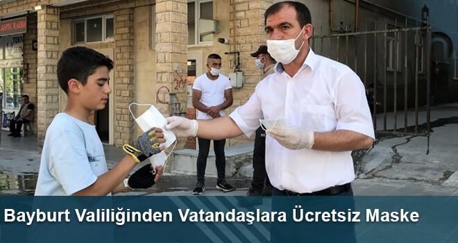 Bayburt Valiliğinden Vatandaşlara Ücretsiz Maske