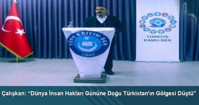"""Çalışkan: """"Dünya İnsan Hakları Gününe Doğu Türkistan'ın gölgesi düştü"""