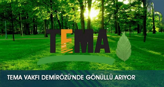 TEMA Vakfı Demirözü'nde Gönüllü Arıyor
