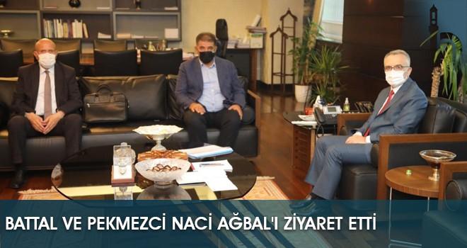 Battal ve Pekmezci Naci Ağbal'ı Ziyaret Etti