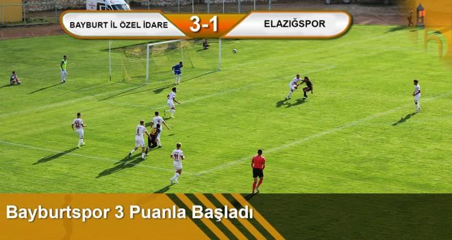 Bayburtspor 3 Puanla Başladı