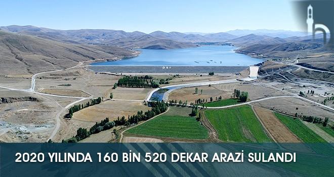 2020 yılında 160 Bin 520 Dekar Arazi Sulandı