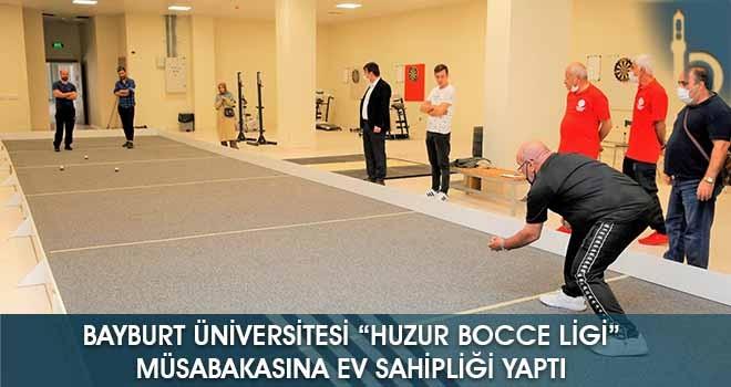 """Bayburt Üniversitesi """"Huzur Bocce Ligi"""" Müsabakasına Ev Sahipliği Yaptı"""