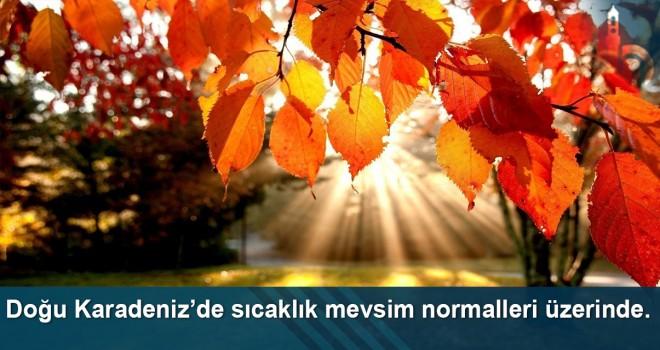 Doğu Karadeniz'de sıcaklık mevsim normalleri üzerinde