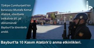 Bayburt'ta 10 Kasım Atatürk'ü anma etkinlikleri.