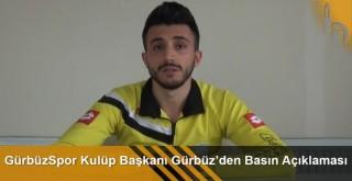 GürbüzSpor Kulüp Başkanı Abdurrahim Gürbüz'den Basın Açıklaması