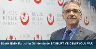 BBP Genel Başkan Yardımcısı Ünsal Karabulut demiryolu projesi konusunda açıklamalarda bulundu.