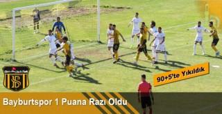Bayburt Özel İdarespor son dakikada yediği golle 1 puana razı oldu