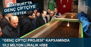 """GENÇ ÇİFTÇİ PROJESİ"" KAPSAMINDA 10.2 MİLYON LİRALIK HİBE"